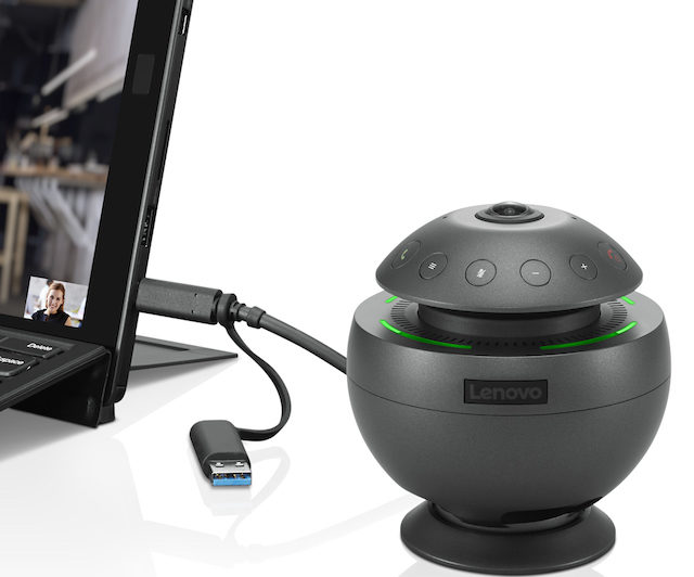 Lenovo VoIP 360 Camera Speaker Allows For On-The-Go Video