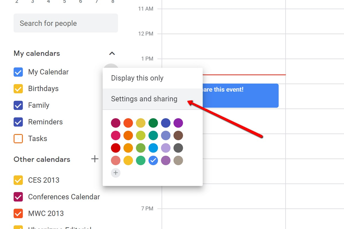 How To Share Your Google Calendar How To Share Your Google Calendar | Ubergizmo
