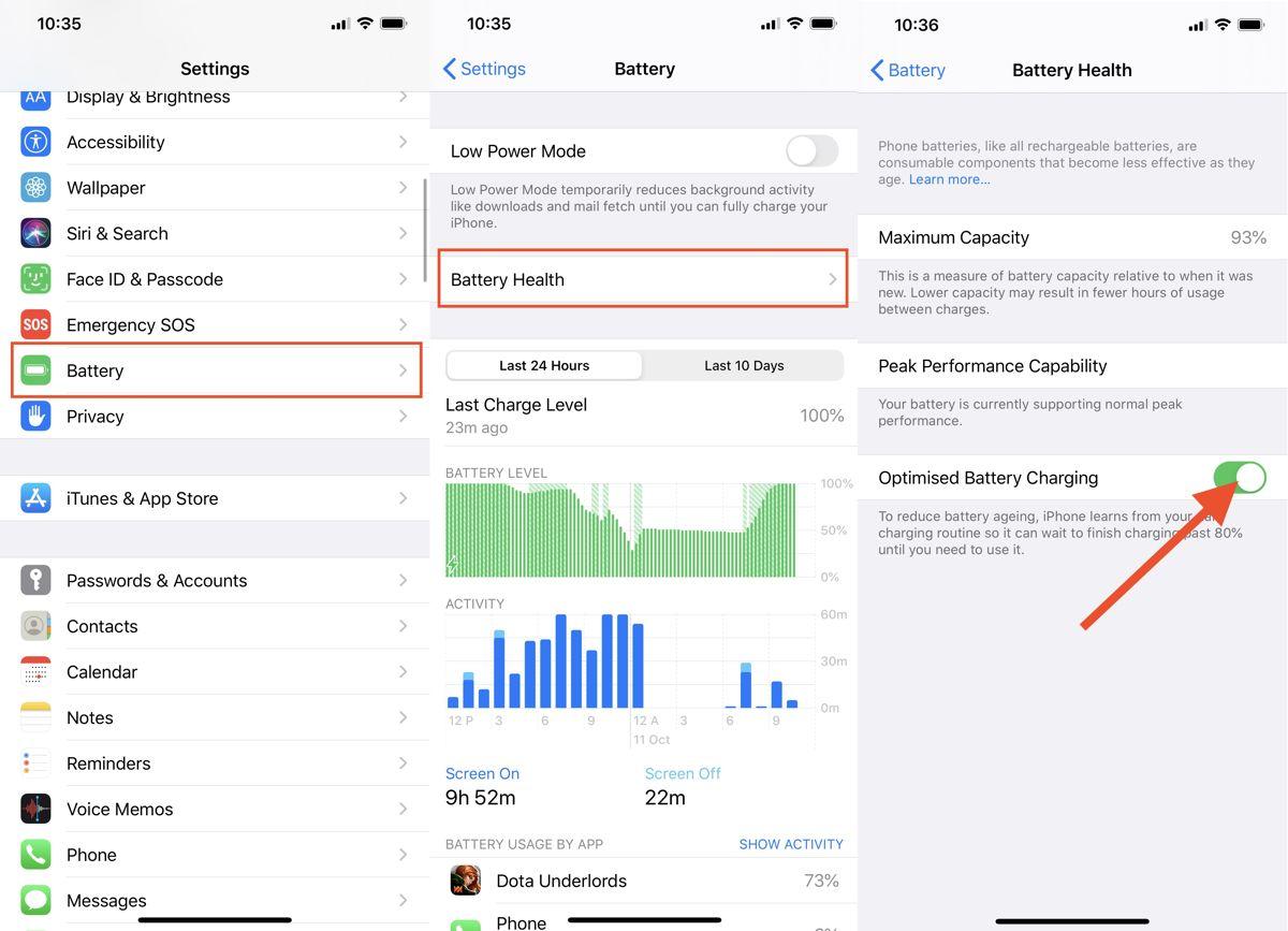 iPhone'da optimize edilmiş pil şarjını devre dışı bırakın