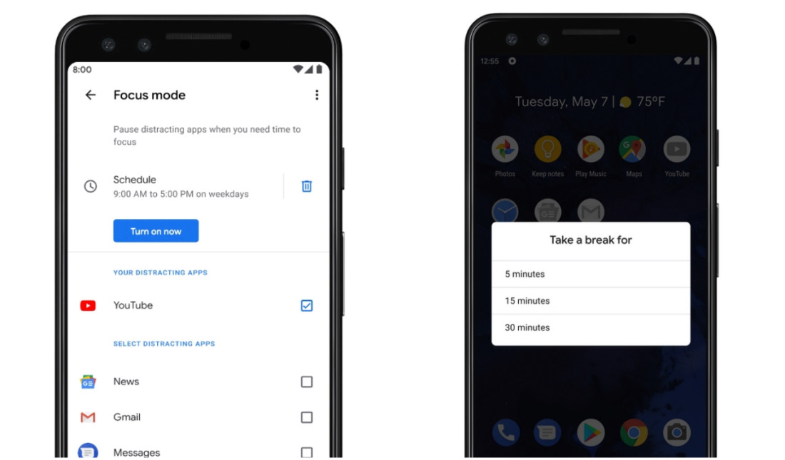 how to use Google's focus mode