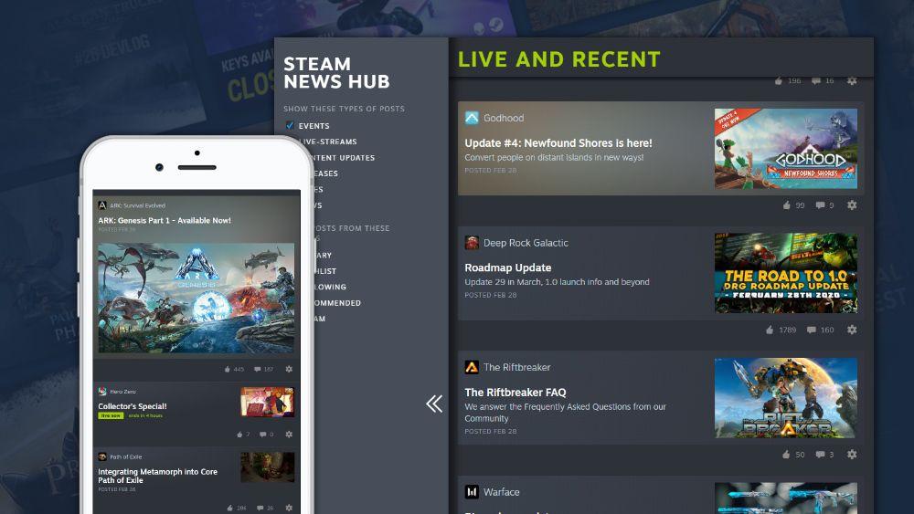 Центр новостей Steam покажет персонализированные обновления для игр, в которые вы играете