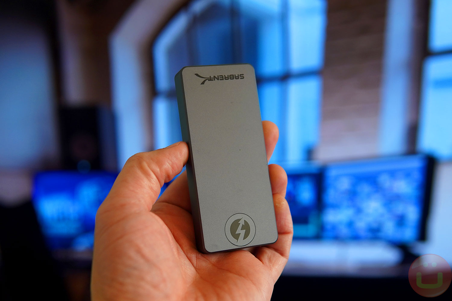 Holding a Sabrent Rocket XTRM-Q 4TB in my hand