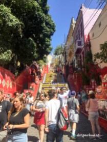 Escadaria Selaron - Passeio de bicicleta no Rio de Janeiro