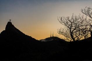 Pôr do Sol no morro dona Marta, Rio de Janeiro