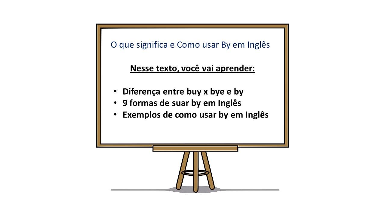 BY em Ingls o que significa BY e como usar by