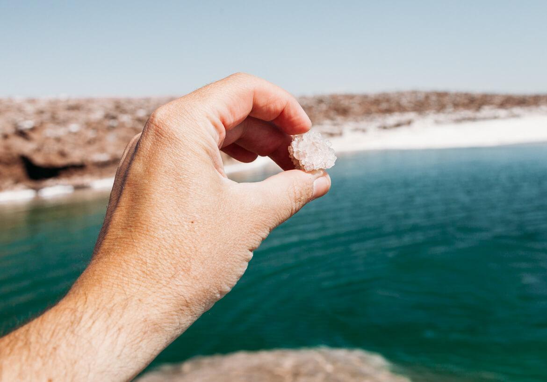 Lagunas Escondidas de Baltinache   cristais de sal
