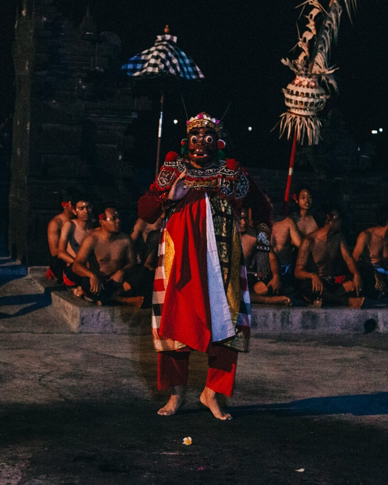 Kecak Dance, Uluwatu, Bali, Indonésia vilões