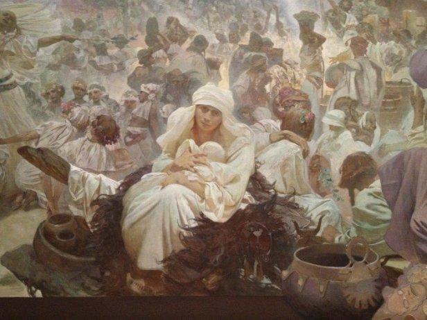 "Pintura da fase conhecida como ""Epopeia Eslava"""