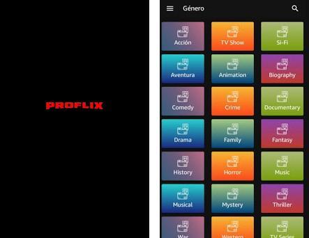 Proflix Plus Capturas de pantalla