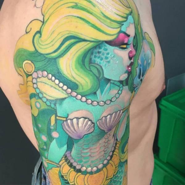 New School Mermaid Tattoos