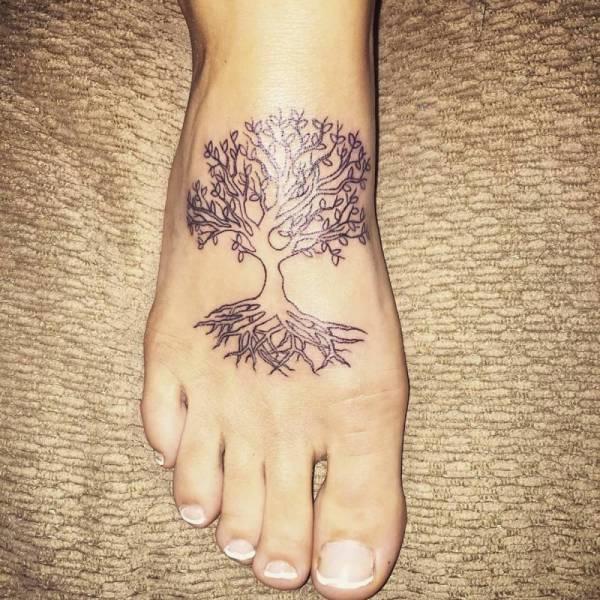 20 Feminine Tree Of Life Tattoos Foot Ideas And Designs