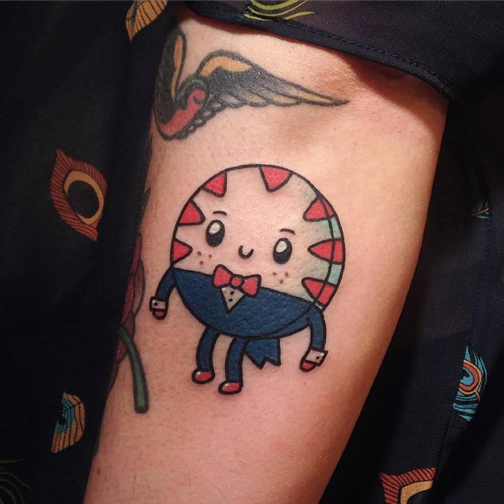 Kawaii Style Adventure Times Peppermint Butler Tattoo