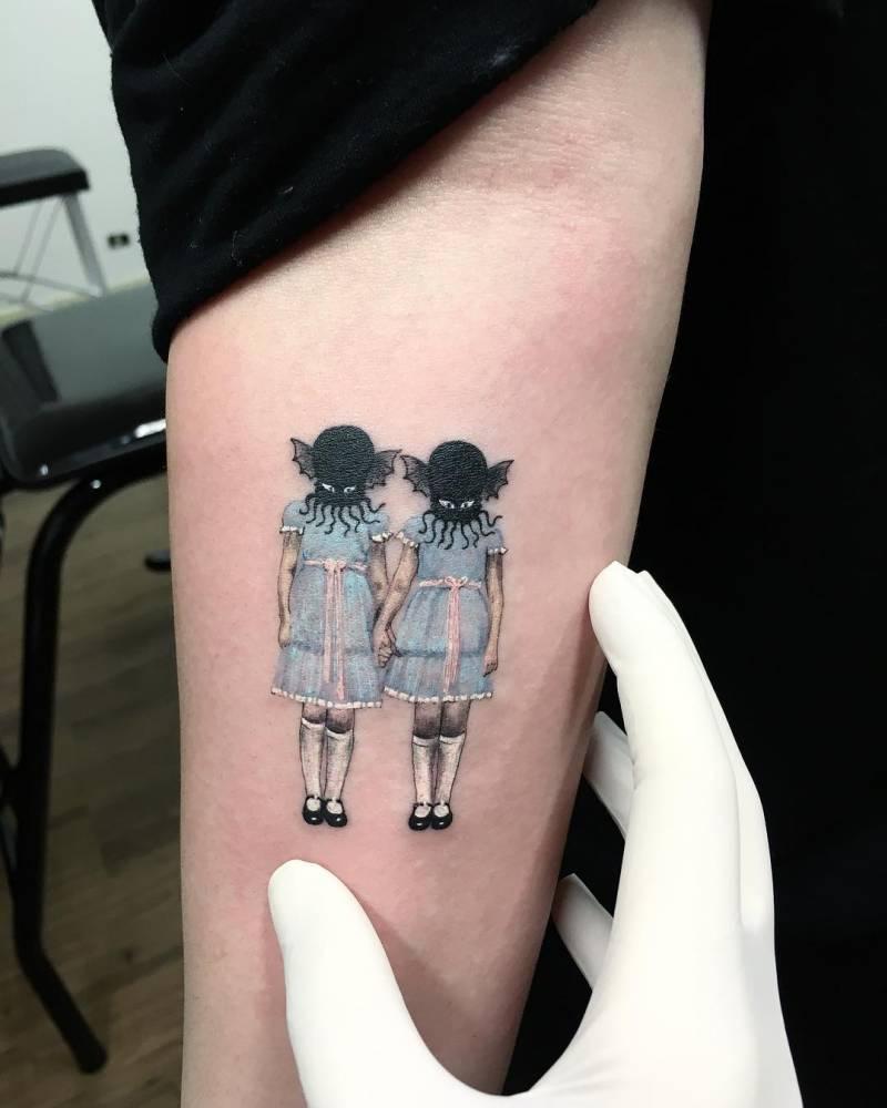 The Shining Tattoo : shining, tattoo, Shining, Inspired, Tattoo, Right, Inner, Forearm.