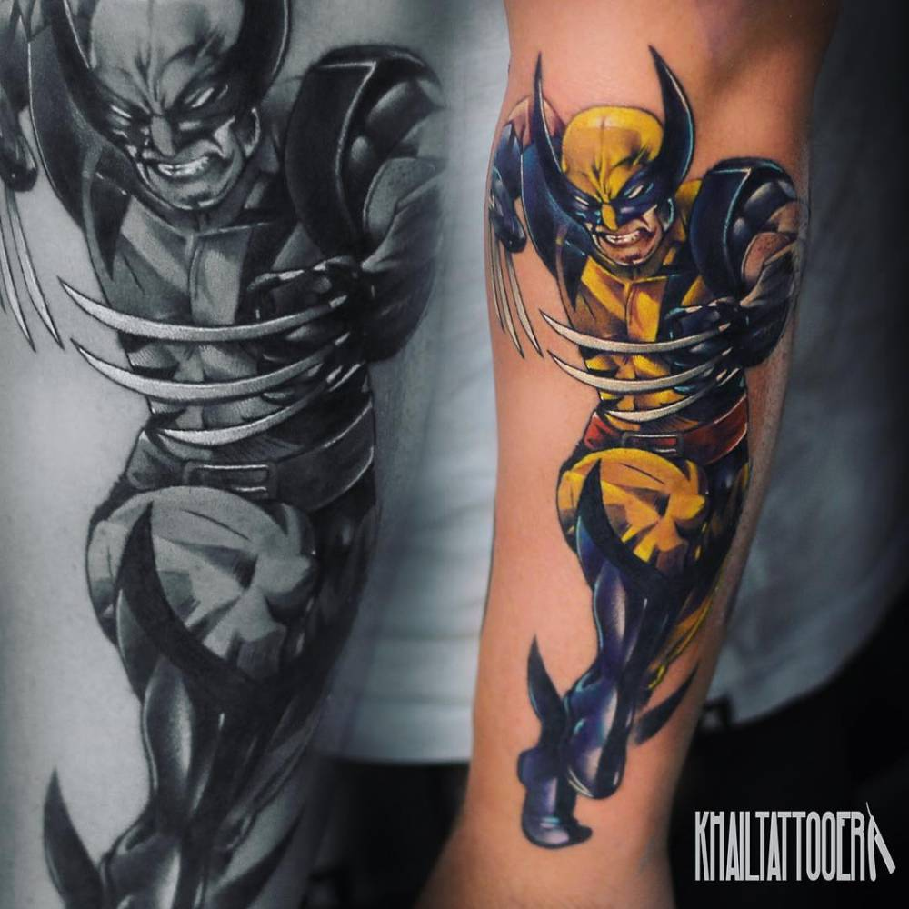 Wolverine Tattoo On The Left Forearm