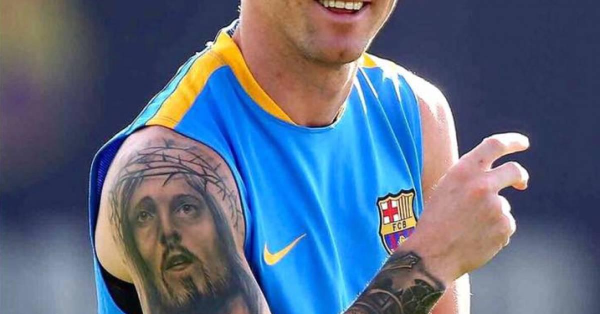 Messi Tattoo Jesus