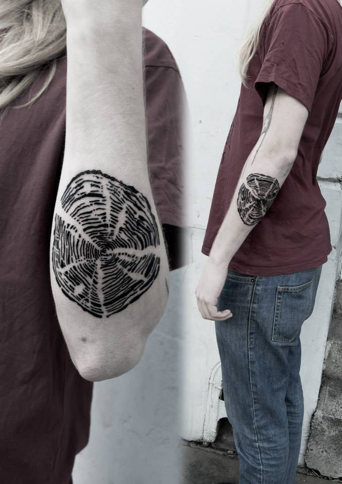 Tree Rings Tattoo : rings, tattoo, Tree-ring, Tattoo, Forearm.