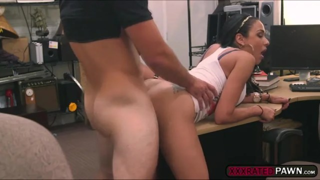 Busty And Sexy Latina Sucks A Dick And Get Fucked Inside The Pawnshop