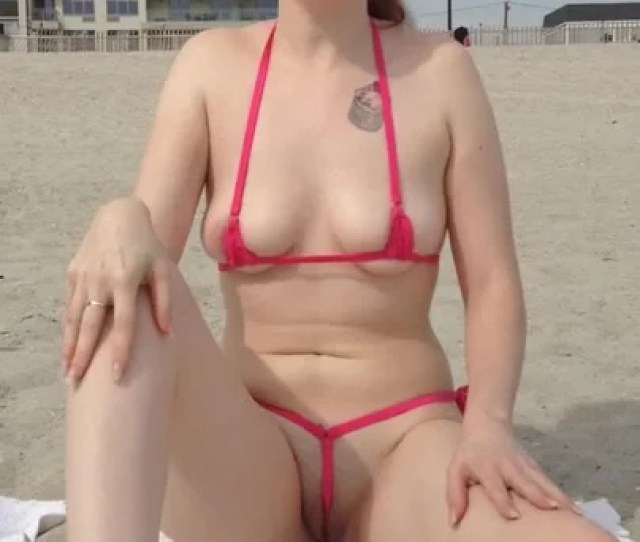 Tara Displaying Off Her Pussy On Non Bare Public Beach