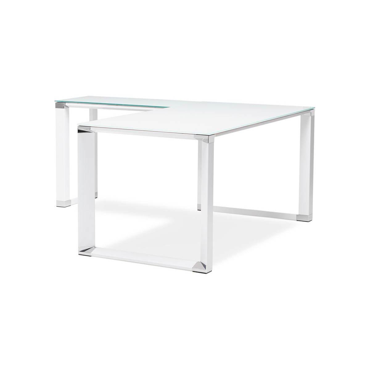 bureau d angle design master en verre