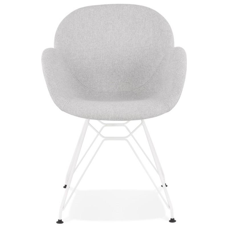 chaise design style industriel tom en tissu metal peint blanc gris clair chaises
