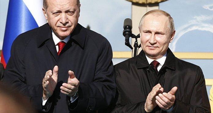 Recep Tayyip Erdoğan ile Vladimir Putin, Ankara, 3 Nisan 2018.