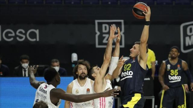 Basketball: Fenerbahce lose to Real Madrid in away game