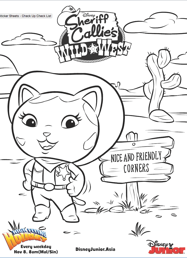 Disney Jr Coloring Pages Sheriff Callie Coloring Page