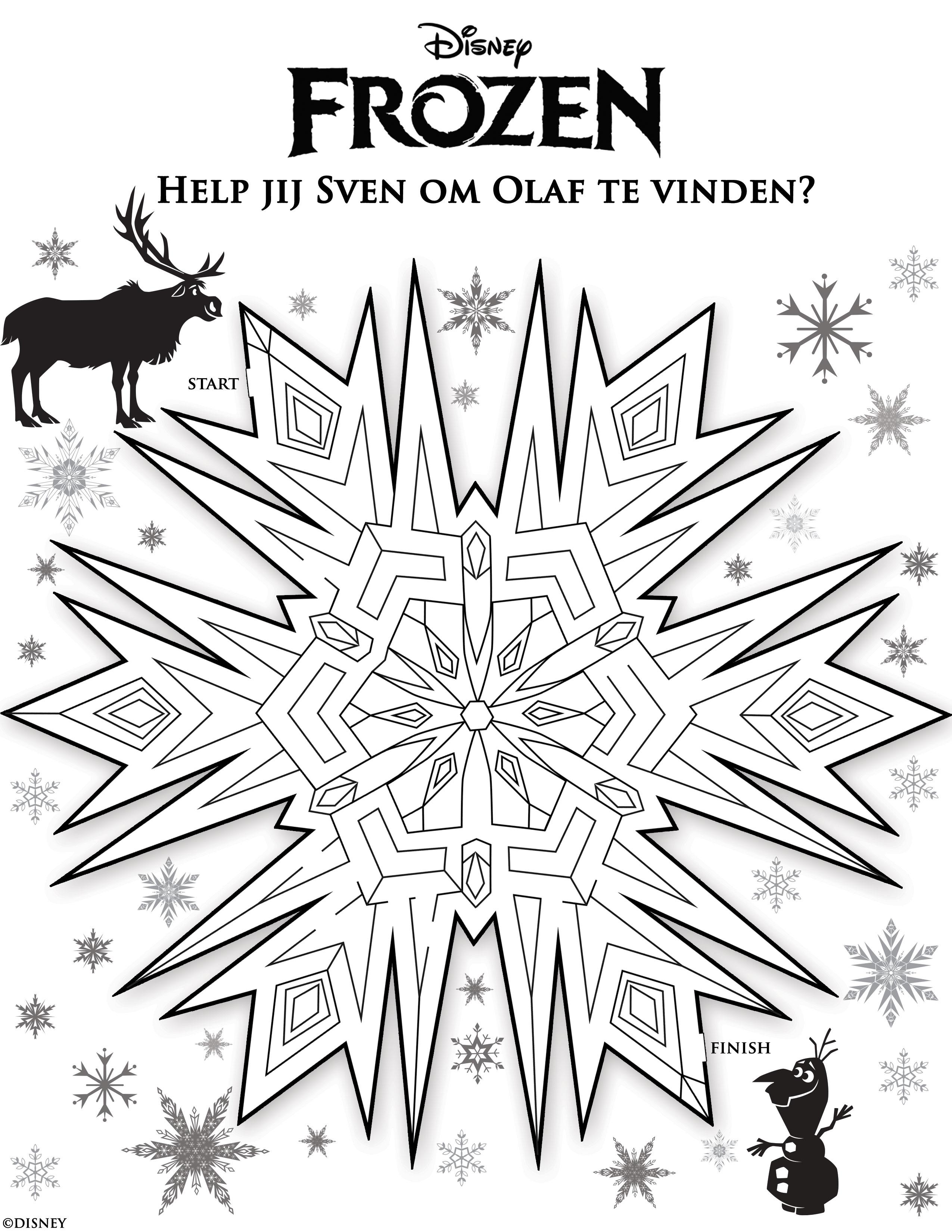 Kleurplaat Frozen Olaf En Sven Ideen Over Kleurpagina39s