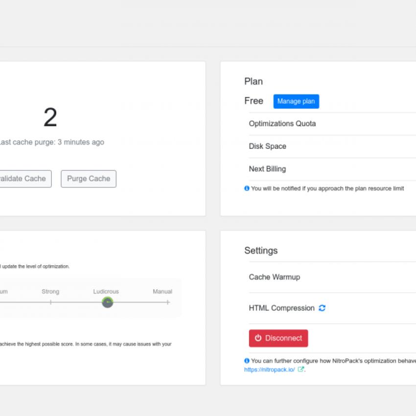NitroPack WordPress SEO Plugin for optimizing site load