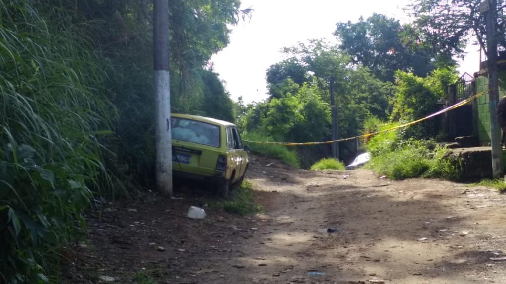 Escena del crimen. Imagen de Noticias 4 Visión