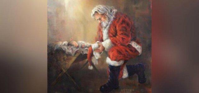 Gesù bambino foto e immagini. Facebook Censura Babbo Natale In Ginocchio Da Gesu Contenuto Violento Cristiani All Attacco
