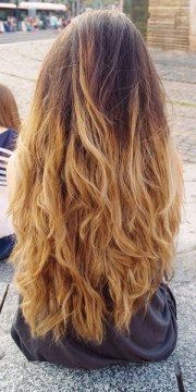 ombre hair style color trend