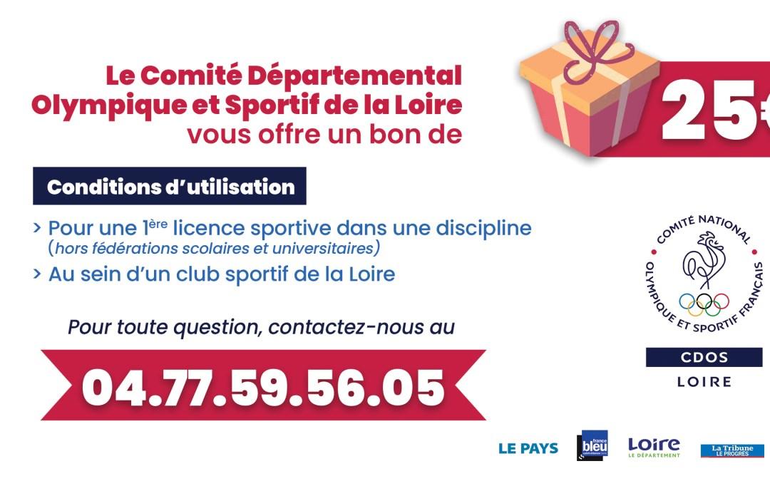 Aide au sport ligérien : nous vous offrons 2000 bons de 25€ !