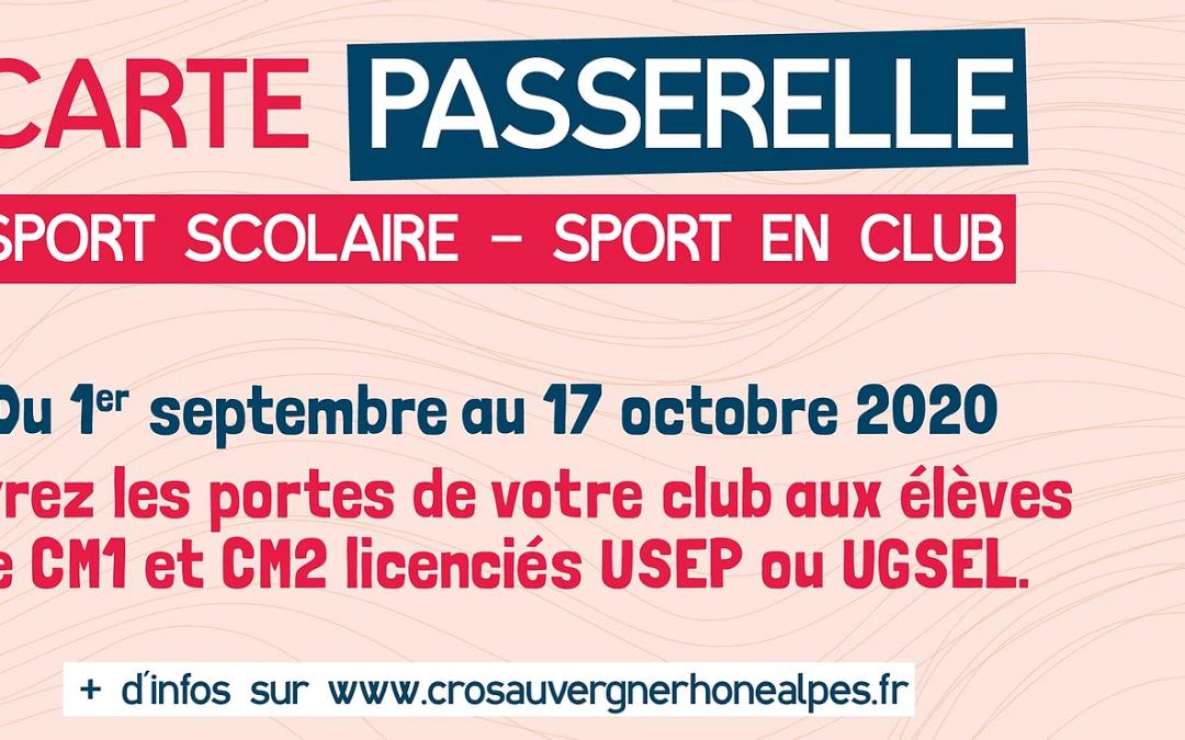Clubs : rejoignez le dispositif de la carte passerelle !