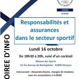 Soirée d'info : Responsabilités et assurances dans le sport