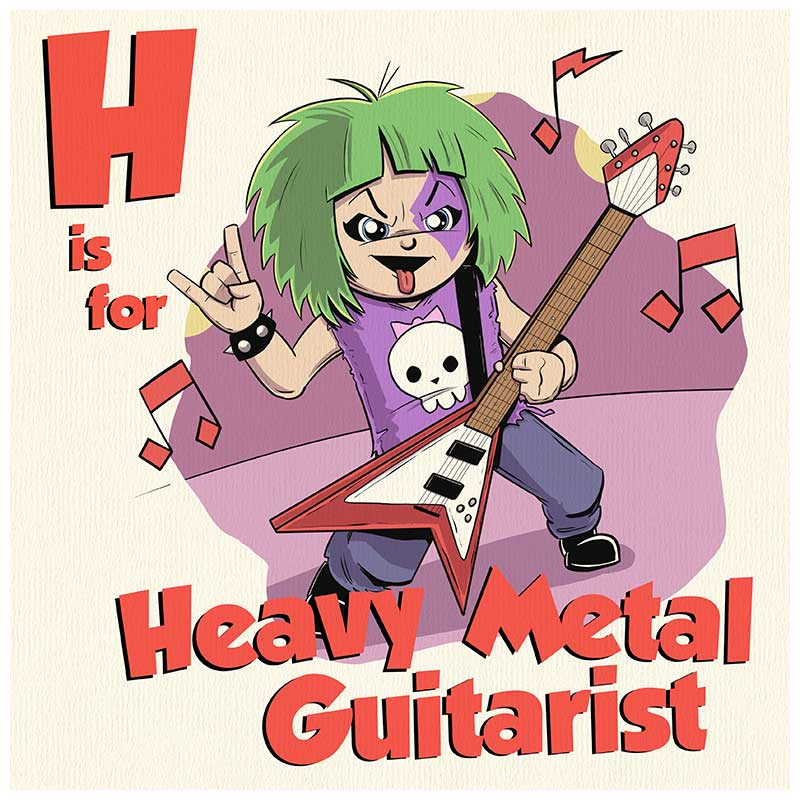 H is for Heavy Metal Guitar