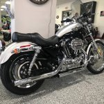 Used 2003 Harley Davidson Xl 1200c Sportster 1200 Custom Sterling Silver Vivid Black Two Tone Motorcycles In Knoxville Tn 415895
