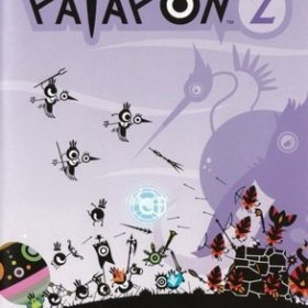 The cover art of the game Patapon 2.