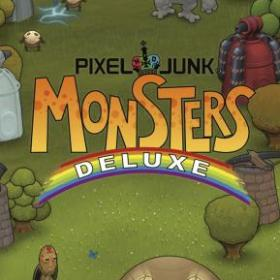 The cover art of the game PixelJunk Monsters Deluxe.