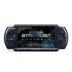 The cover art of the game Super Stardust Portable.