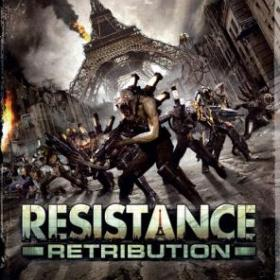 The cover art of the game Resistance: Retribution.