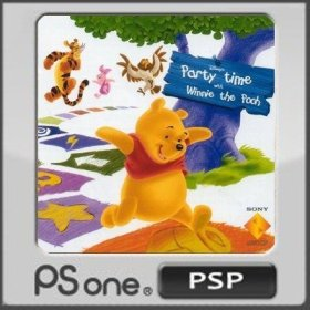 The cover art of the game Disney's Party Time with Winnie the Pooh.