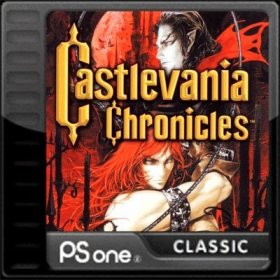 The cover art of the game Castlevania Chronicles.