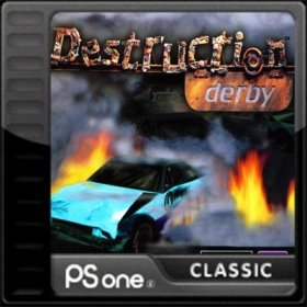 The cover art of the game Destruction Derby.