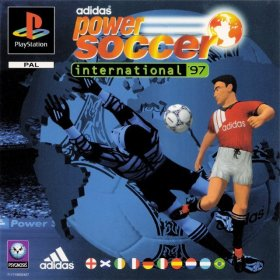The cover art of the game  Adidas Power Soccer International '97.