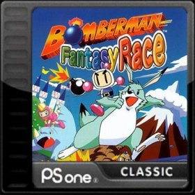 The cover art of the game Bomberman Fantasy Race.