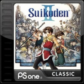 The cover art of the game Suikoden II.