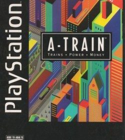 The cover art of the game A-Train: Trains, Power, Money.