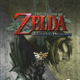 The cover art of the game The Legend Of Zelda: Twilight Princess.
