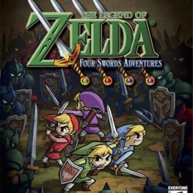 The cover art of the game The Legend Of Zelda: Four Swords Adventures.